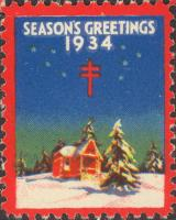 1934 US Christmas Seal