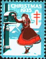 1935 US Christmas Seal