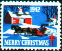 1942 US Christmas Seal