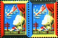 1943 US Christmas Seal