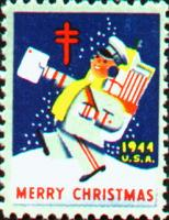 1944 US Christmas Seal