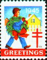 1945 US Christmas Seal