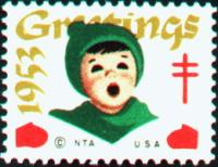 1953 US Christmas Seal