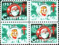 1957 US Christmas Seal
