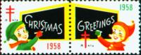 1958 US Christmas Seal
