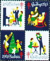 1961 US Christmas Seal